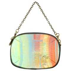 Unique Abstract In Green, Blue, Orange, Gold Chain Purses (one Side)