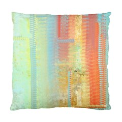 Unique abstract in green, blue, orange, gold Standard Cushion Case (One Side)
