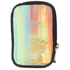 Unique Abstract In Green, Blue, Orange, Gold Compact Camera Cases