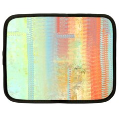 Unique abstract in green, blue, orange, gold Netbook Case (XL)