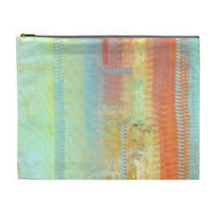 Unique abstract in green, blue, orange, gold Cosmetic Bag (XL)