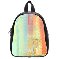 Unique abstract in green, blue, orange, gold School Bags (Small)