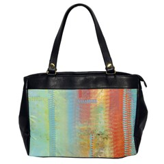 Unique Abstract In Green, Blue, Orange, Gold Office Handbags