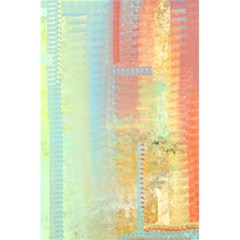 Unique Abstract In Green, Blue, Orange, Gold 5 5  X 8 5  Notebooks
