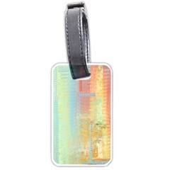 Unique abstract in green, blue, orange, gold Luggage Tags (Two Sides)