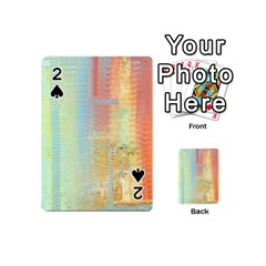 Unique abstract in green, blue, orange, gold Playing Cards 54 (Mini)
