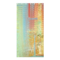 Unique abstract in green, blue, orange, gold Shower Curtain 36  x 72  (Stall)