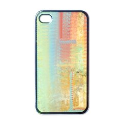 Unique Abstract In Green, Blue, Orange, Gold Apple Iphone 4 Case (black)