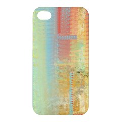 Unique abstract in green, blue, orange, gold Apple iPhone 4/4S Hardshell Case