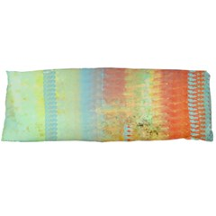 Unique abstract in green, blue, orange, gold Body Pillow Case Dakimakura (Two Sides)