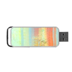 Unique Abstract In Green, Blue, Orange, Gold Portable Usb Flash (one Side)