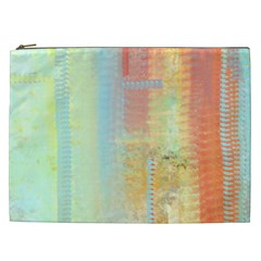 Unique abstract in green, blue, orange, gold Cosmetic Bag (XXL)