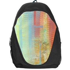 Unique Abstract In Green, Blue, Orange, Gold Backpack Bag