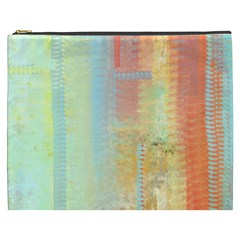 Unique abstract in green, blue, orange, gold Cosmetic Bag (XXXL)