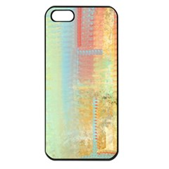 Unique abstract in green, blue, orange, gold Apple iPhone 5 Seamless Case (Black)