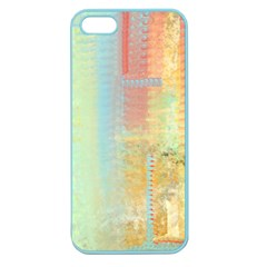 Unique abstract in green, blue, orange, gold Apple Seamless iPhone 5 Case (Color)