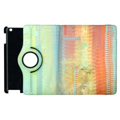 Unique abstract in green, blue, orange, gold Apple iPad 2 Flip 360 Case