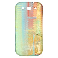 Unique abstract in green, blue, orange, gold Samsung Galaxy S3 S III Classic Hardshell Back Case