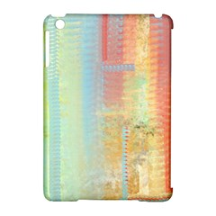 Unique Abstract In Green, Blue, Orange, Gold Apple Ipad Mini Hardshell Case (compatible With Smart Cover)