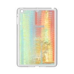 Unique Abstract In Green, Blue, Orange, Gold Ipad Mini 2 Enamel Coated Cases