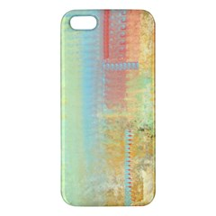 Unique abstract in green, blue, orange, gold Apple iPhone 5 Premium Hardshell Case