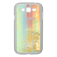 Unique abstract in green, blue, orange, gold Samsung Galaxy Grand DUOS I9082 Case (White)