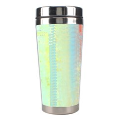 Unique abstract in green, blue, orange, gold Stainless Steel Travel Tumblers