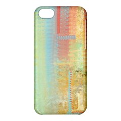 Unique abstract in green, blue, orange, gold Apple iPhone 5C Hardshell Case