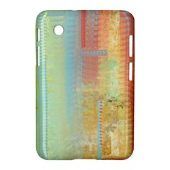 Unique abstract in green, blue, orange, gold Samsung Galaxy Tab 2 (7 ) P3100 Hardshell Case