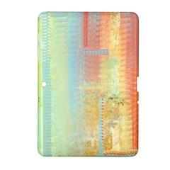 Unique abstract in green, blue, orange, gold Samsung Galaxy Tab 2 (10.1 ) P5100 Hardshell Case