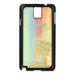 Unique Abstract In Green, Blue, Orange, Gold Samsung Galaxy Note 3 N9005 Case (black)