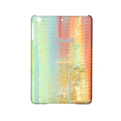 Unique abstract in green, blue, orange, gold iPad Mini 2 Hardshell Cases