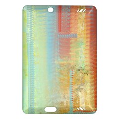 Unique Abstract In Green, Blue, Orange, Gold Amazon Kindle Fire Hd (2013) Hardshell Case