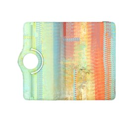 Unique abstract in green, blue, orange, gold Kindle Fire HDX 8.9  Flip 360 Case