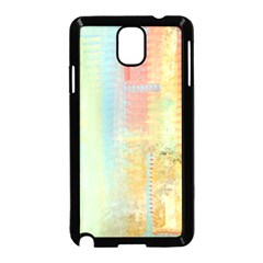 Unique Abstract In Green, Blue, Orange, Gold Samsung Galaxy Note 3 Neo Hardshell Case (black)