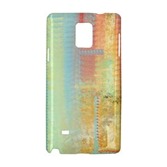 Unique abstract in green, blue, orange, gold Samsung Galaxy Note 4 Hardshell Case