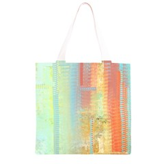 Unique abstract in green, blue, orange, gold Grocery Light Tote Bag