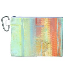 Unique abstract in green, blue, orange, gold Canvas Cosmetic Bag (XL)