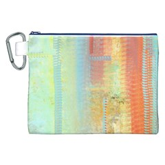 Unique Abstract In Green, Blue, Orange, Gold Canvas Cosmetic Bag (xxl)