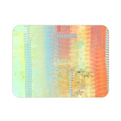 Unique Abstract In Green, Blue, Orange, Gold Double Sided Flano Blanket (mini)