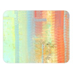 Unique abstract in green, blue, orange, gold Double Sided Flano Blanket (Large)