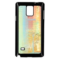Unique abstract in green, blue, orange, gold Samsung Galaxy Note 4 Case (Black)