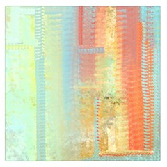 Unique abstract in green, blue, orange, gold Large Satin Scarf (Square)