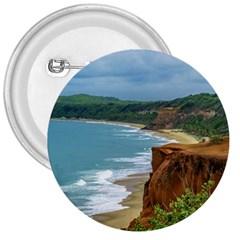 Aerial Seascape Scene Pipa Brazil 3  Buttons