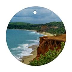 Aerial Seascape Scene Pipa Brazil Ornament (Round)