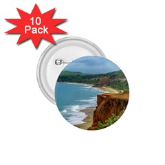 Aerial Seascape Scene Pipa Brazil 1.75  Buttons (10 pack)