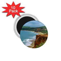 Aerial Seascape Scene Pipa Brazil 1.75  Magnets (10 pack)