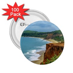 Aerial Seascape Scene Pipa Brazil 2.25  Buttons (100 pack)