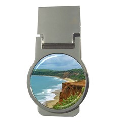 Aerial Seascape Scene Pipa Brazil Money Clips (Round)