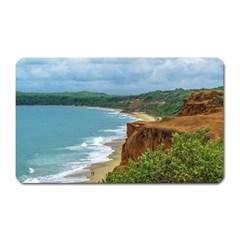Aerial Seascape Scene Pipa Brazil Magnet (Rectangular)